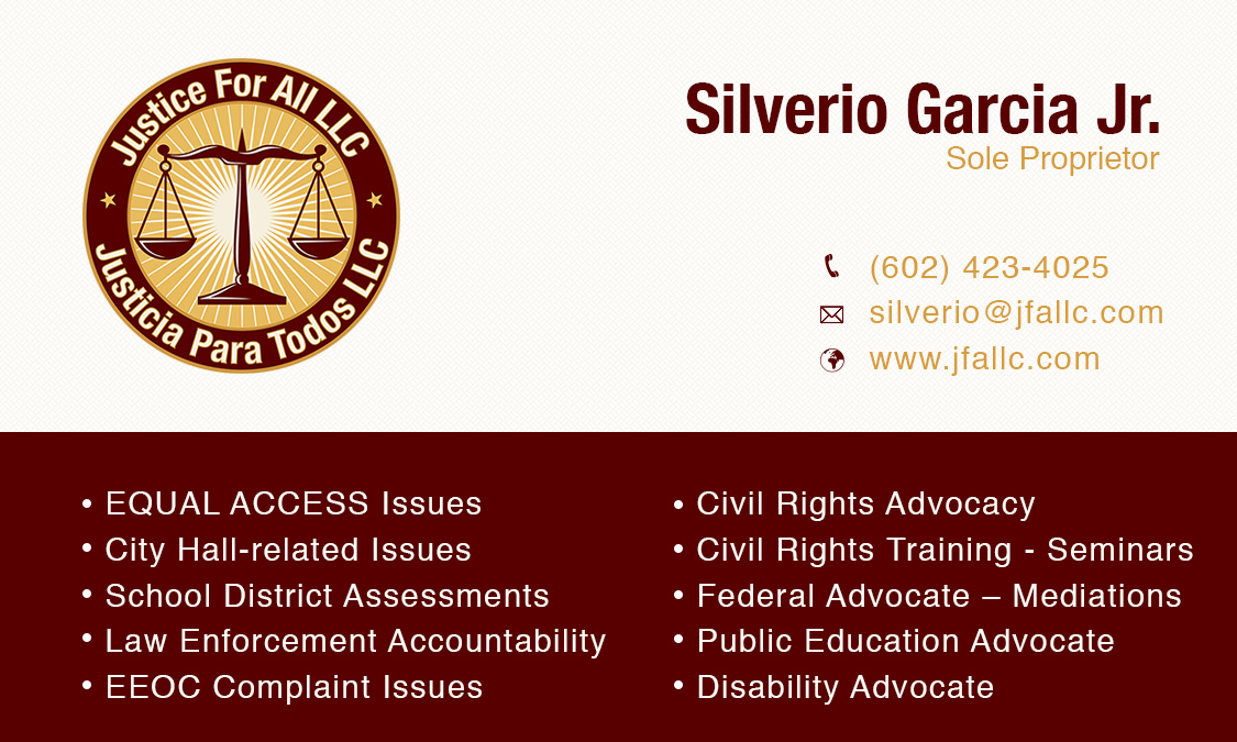 Business Logo – Card | Justice For All